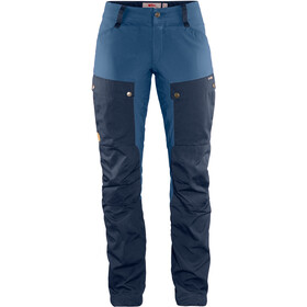 Fjällräven Keb Pantalon Femme, dark navy-uncle blue